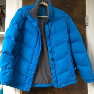 LL Bean Insulated Down Jacket- Womens M- Blue
